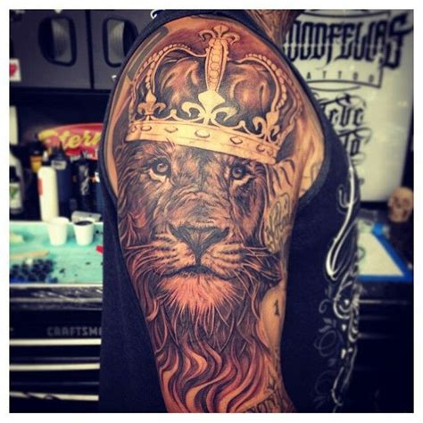 lion with crown tattoo design king tatoo follow me