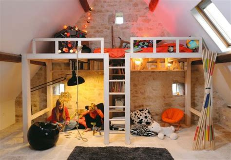 coole doppelbetten bett design 24 ideen f 252 r kinderzimmer