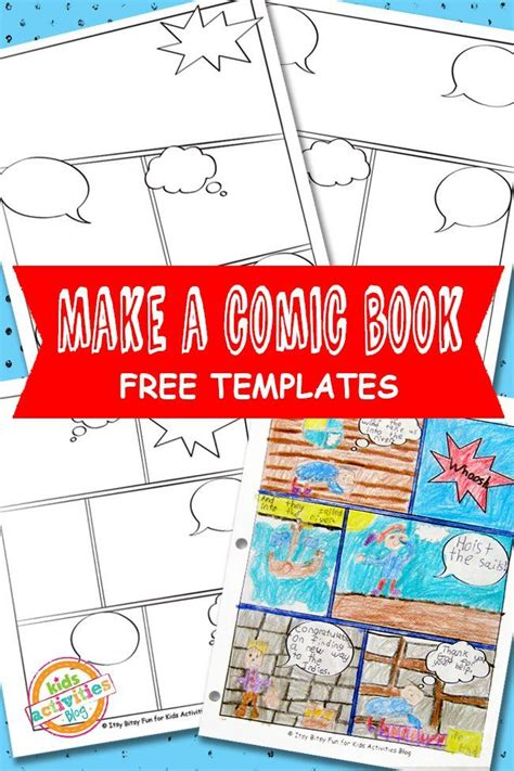 templates blogspot books comic book templates free kids printable free comic