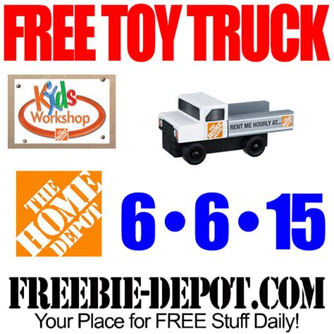 free truck at home depot free kid workshop free