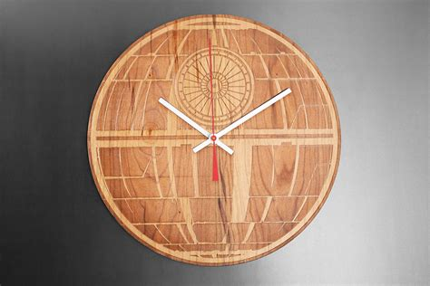 Wood Clock by Star Wars Engraved Wood Clocks This One A Long Time You