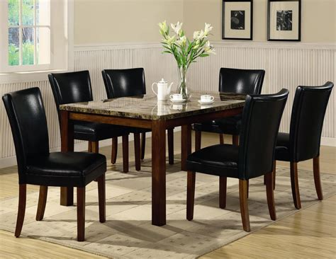 Telegraph Rich Cherry Wood And Marble Dining Table Set Marble And Wood Dining Table