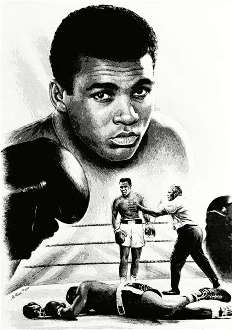 Pencil Alis muhammad ali the greatest drawing by andrew read