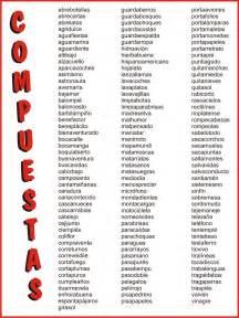 palabras compuestas para ninos en espanol mis cosas de maestra palabras compuestas