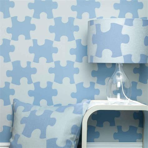 blue bedrooms for kids designer kids wallpaper it s a puzzle in blue bedroom