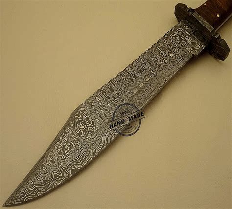 Handmade Damascus Steel Knives - professional damascus bowie knife custom handmade damascus