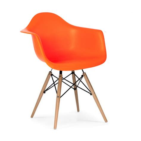 orange chair eames style daw dowel armchair
