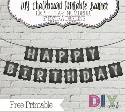 free printable chalkboard banner numbers 17 best images about diy swank on pinterest wood blocks