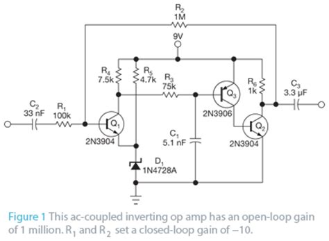 proper transistor lifier operation build an op with three discrete transistors edn
