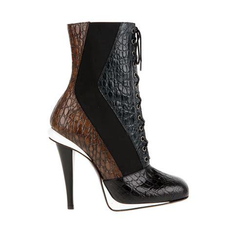 fendi boots fendi laceup boots in threetone