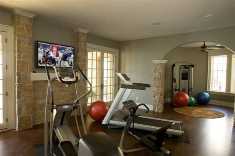 exercise room traditional home indianapolis by