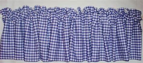 periwinkle royal blue gingham kitchen caf 233 curtain