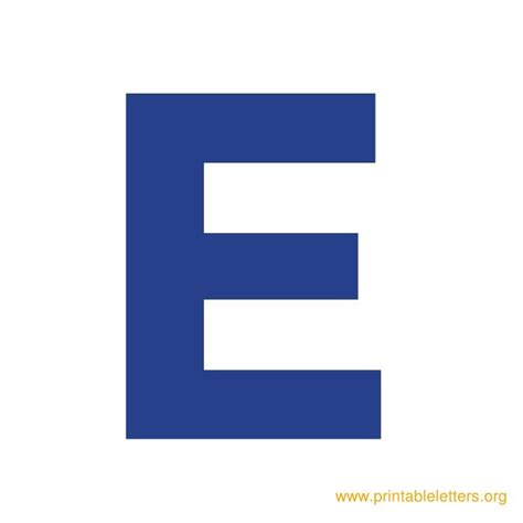 printable alphabet letter e 7 best images of printable letter e in blue alphabet