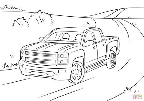 chevy trucks coloring page chevrolet silverado coloring page free printable
