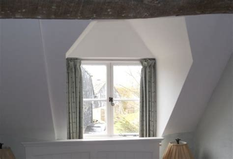 Dormer Window Coverings For A Small Cottage Window Curtains With A Gathered