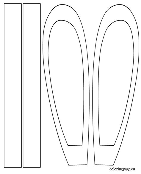 easter bunny ears headband template bunny headband template coloring page