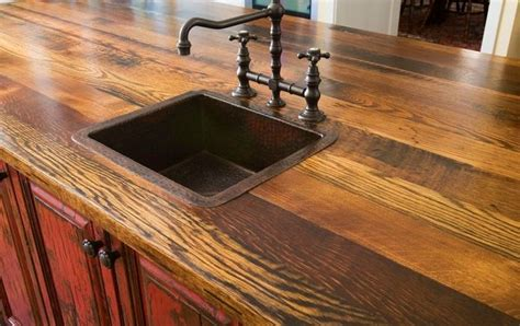 wood bar top ideas old english bars woodwork recycled barn wood counter top
