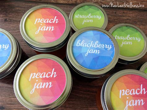 printable labels for homemade jam free printable canning labels for jam new leaf wellness