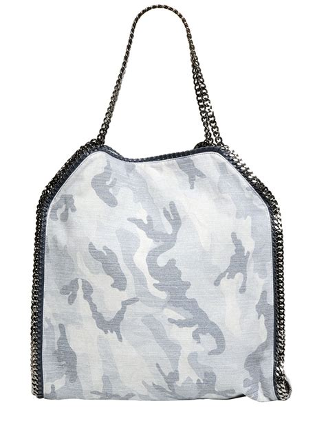 Stella Mccartney Cotton Handbag by Lyst Stella Mccartney Large Falabella Cotton Blend Camo
