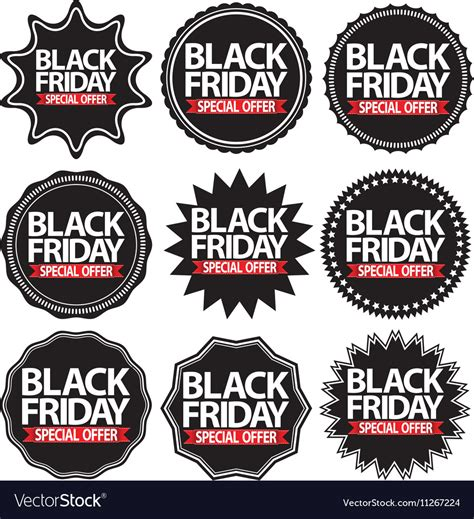 Cr Maill Re Tag Re 1740 by Black Friday Special Offer Black Signs Set Vector By Dinoz