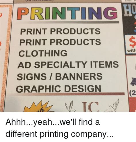 Ahhh Yeah Meme - printing print products print products clothing ad