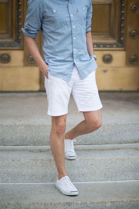 light blue button up shirt mens men s light blue chambray long sleeve shirt white shorts