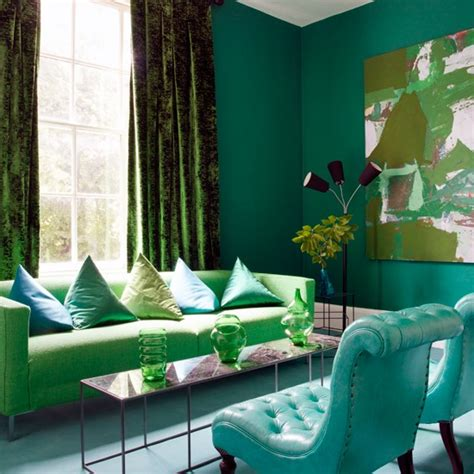 Blue And Green Living Room Ideas | green and blue living room decor 2017 grasscloth wallpaper