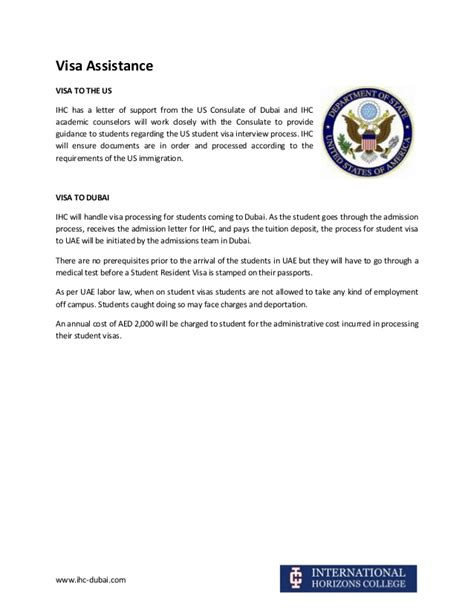 Sle Support Letter For Deportation International Horizons College Dubai Visa Assistance