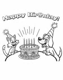 happy birthday coloring cards birthday card coloring pages coloring home
