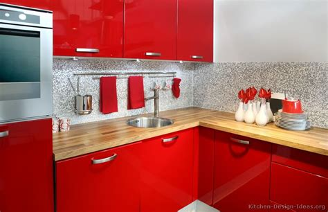 Red Kitchens | pictures of kitchens modern red kitchen cabinets