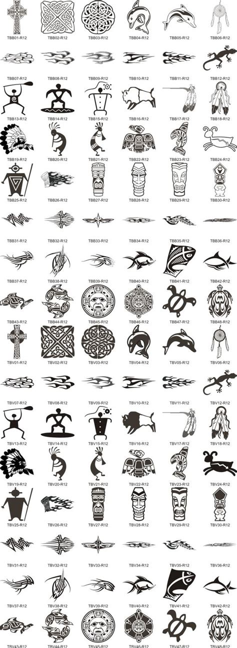 aztec tribal pattern meaning symbols and their meanings fonts and symbols sleeve