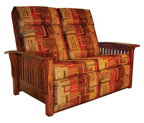 mission style recliner fabric mission double recliner love seat ohio hardwood furniture