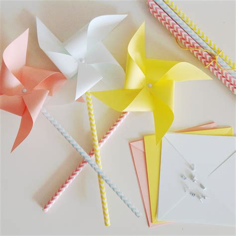 A Paper Pinwheel - diy paper pinwheel kit puddles madeit au