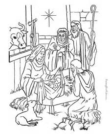 Nativity Color Page nativity coloring pages az coloring pages