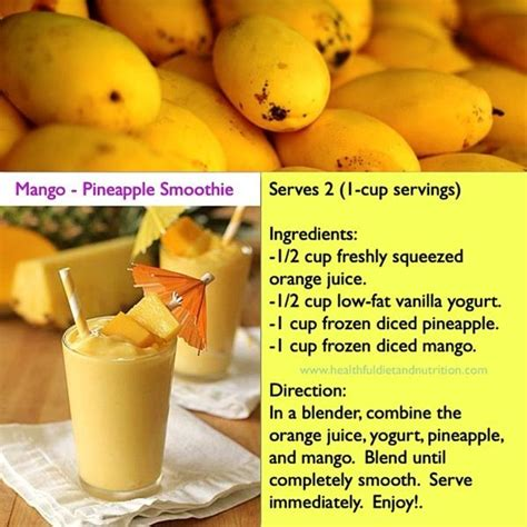 Mango Smoothie Recipe For Detox by Best 25 Mango Pineapple Smoothie Ideas On