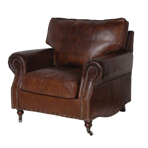 Vintage Leather Chair by Banbury Vintage Leather Chair Traditional Living Room
