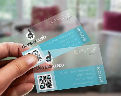 Clear Business Card Template by Free Flat Plastic Business Card Template Free Business
