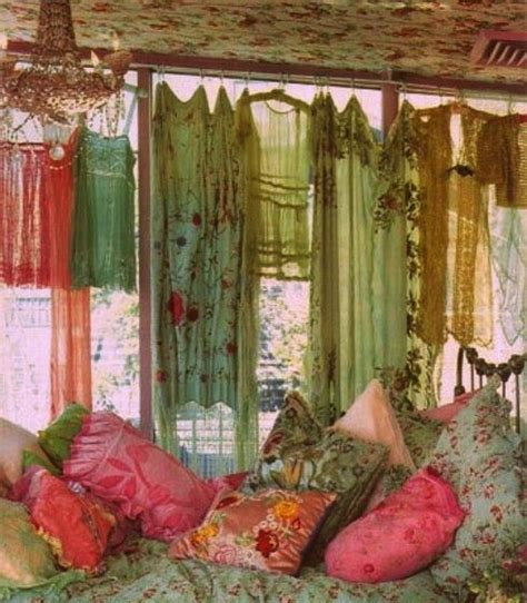 Bohemian Style Curtains A Lovely Bedroom With Boho Flair Bedrooms Pinterest Boho Decor And