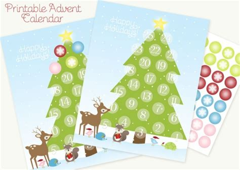 printable advent calendar christmas tree printable advent calendar worldlabel blog