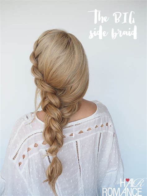 how to braid extensions into your own hair how to style a big side braid instant mermaid hair hair romance bloglovin