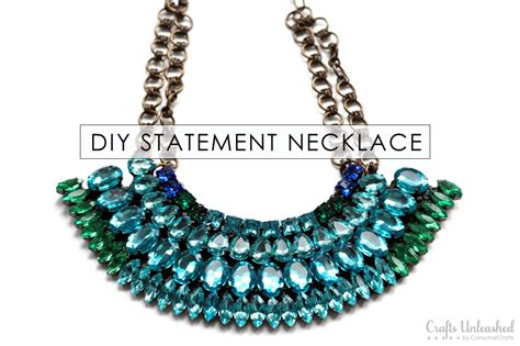 how to make jewelry necklace statement necklace tutorial diy rhinestone necklace