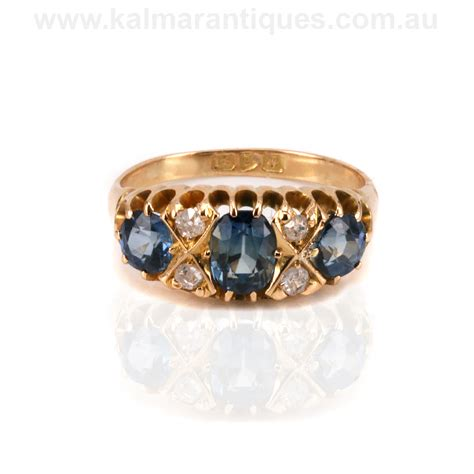 antique sapphire and engagement ring made in 1909