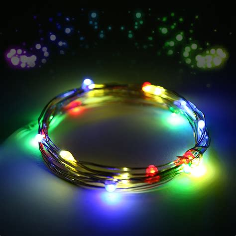 Battery Powered Outdoor String Lights 20 30 100 200 500 Led Solar Battery Powered String Lights Outdoor Ebay