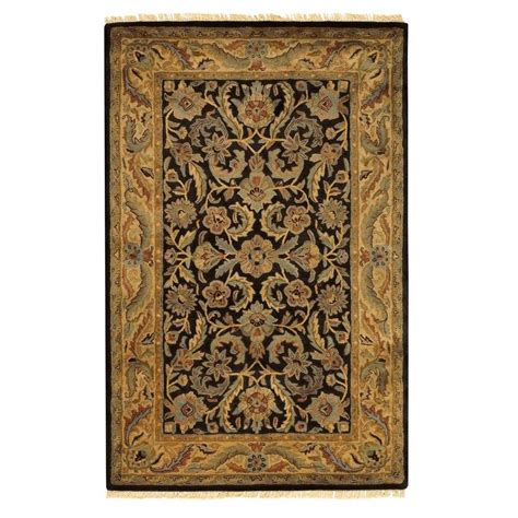 3 area rug home decorators collection chantilly black 2 ft x 3 ft area rug 2632600210 the home depot
