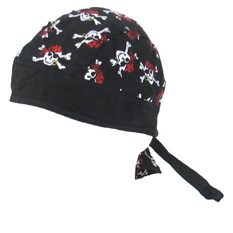 new pirate skull and crossbones fitted do doo du rag