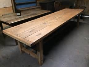 Large Kitchen Tables With Benches 320cm Large Antique Oak 4 Plank Top With Matching Benches Oak Antique Table Antique Refectory