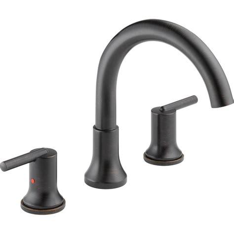 bathtub faucet kit delta trinsic 2 handle deck mount roman tub faucet trim