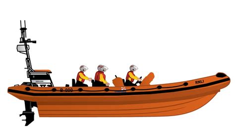 rescue boat clipart b class atlantic lifeboat one of the fastest rnli lifeboats