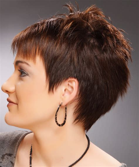 short hairstyles with height at crown short straight casual pixie hairstyle