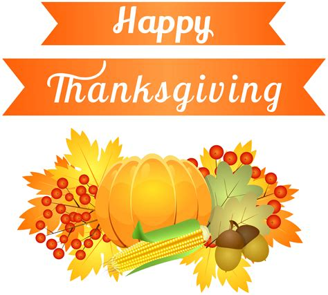 Thanksgiving Decorations Clipart